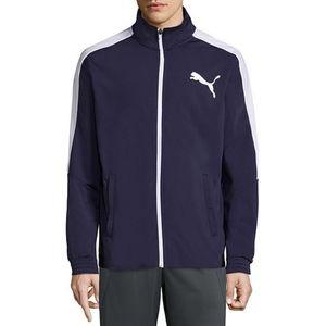 Puma Blue Zip Front Active Wear Sweater